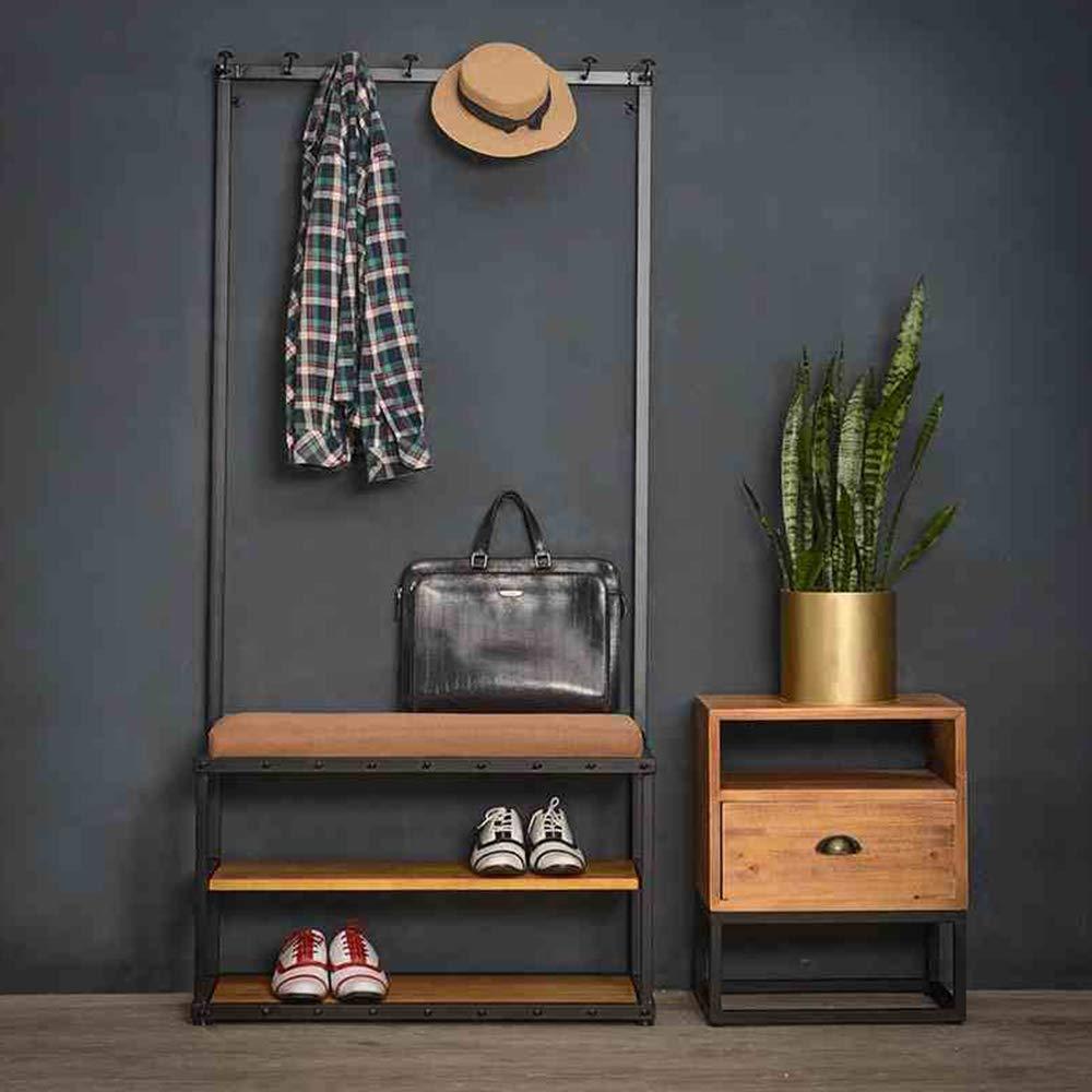 Amazon.com: Shoe Racks MEIDUO, Wooden Shoe Bench, Coat Rack ...