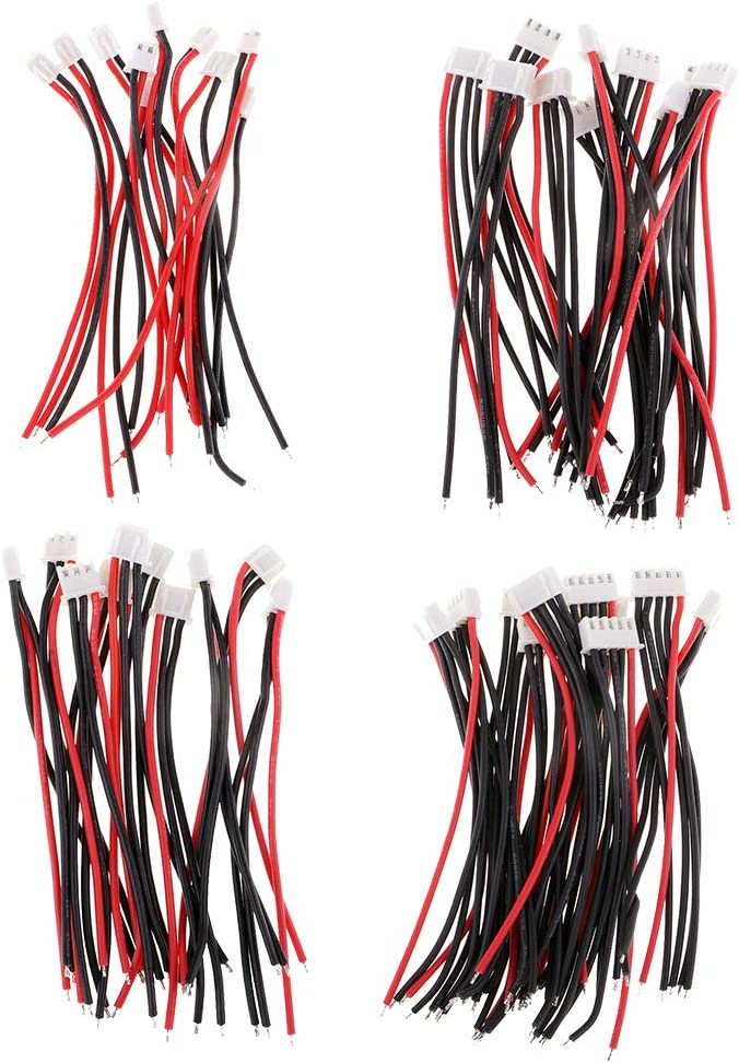 1S IPOTCH 10pcs 10cm Silicone JST-XH Balance Cable 22AWG For Lipo Lithium Battery