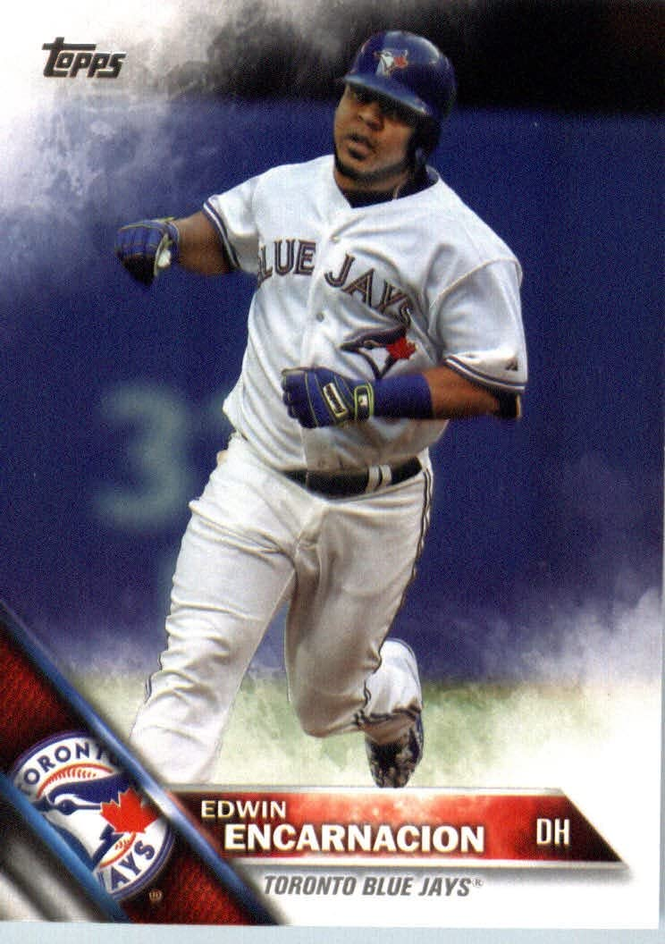 Amazon.com: 2016 Topps #89 Edwin Encarnacion Toronto Blue Jays Baseball Card: Collectibles & Fine Art