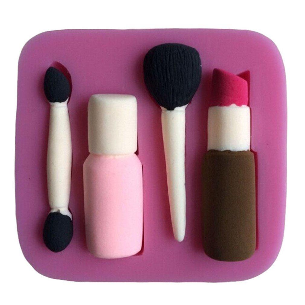 LYNCH Outils de maquillage Conception Fondant gâteau en silicone Mold Savon Moule à Chocolat Moules,Rose