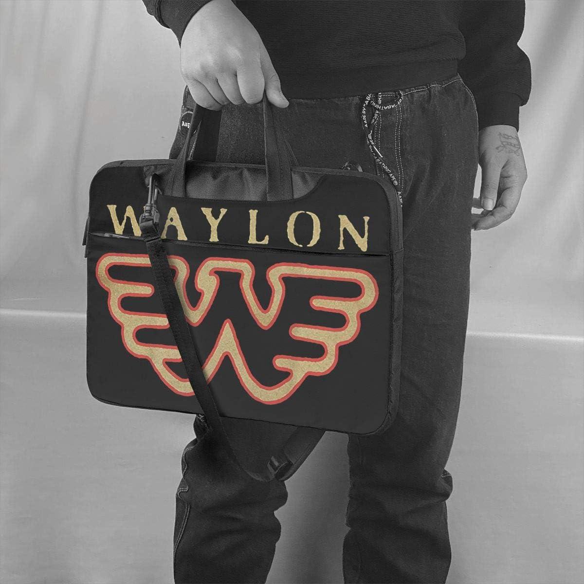 Waylon-Jennings Flying W Single Shoulder Laptop Bag Briefcase Multi-Size Waterproof Travel