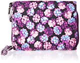 Vera Bradley Women's Lighten Up RFID Card Case, berry burst, One Size