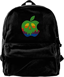 MIJUGGH Canvas Backpack Poison Apple Rucksack Gym Hiking Laptop Shoulder Bag Daypack for Men Women