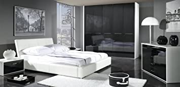 Design Luxus Bedroom Set In Precious Wood Style Furniture All White/Black  SL16 New!: Amazon.co.uk: Kitchen U0026 Home