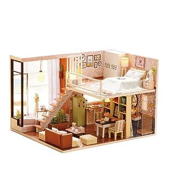 Linag Puppenhaus Häuser Minipuppen Mini Szene Zuhause Einrichtung