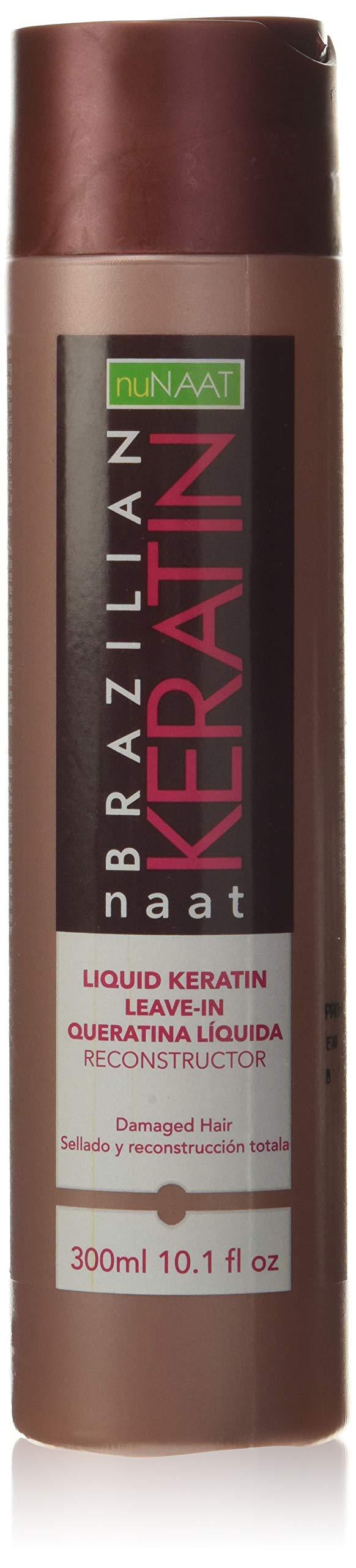 Nunaat Naat Brazilian Keratin Liquid Keratin Leave In Reconstructor, 10.1 fl oz