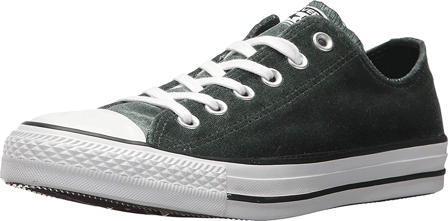 f444e17eaa26 Converse Women s Chuck Taylorr All Starr Velvet Ox Deep Emerald White White  Classic Shoes 5.5 B(M) U  Buy Online at Low Prices in India - Amazon.in