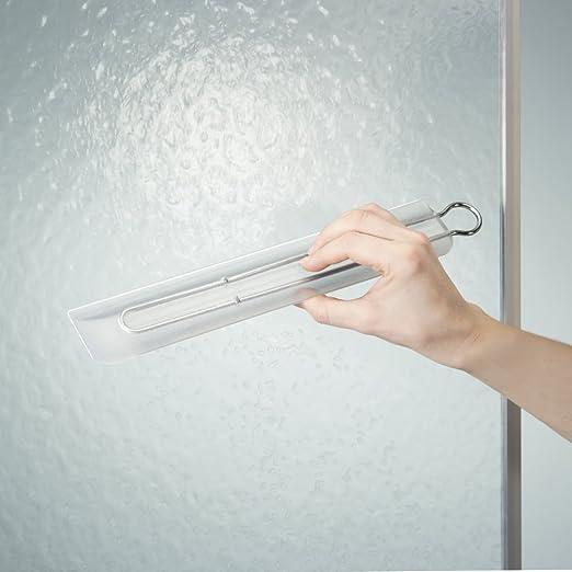 mDesign - Escobilla para inodoro, con ventosa, para el cuarto de baño - 35 cm - Glaseado: Amazon.es: Hogar