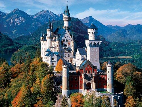 Buffalo Games - Majestic Castles - Neuschwanstein Castle Bavaria - 750 Piece Jigsaw -
