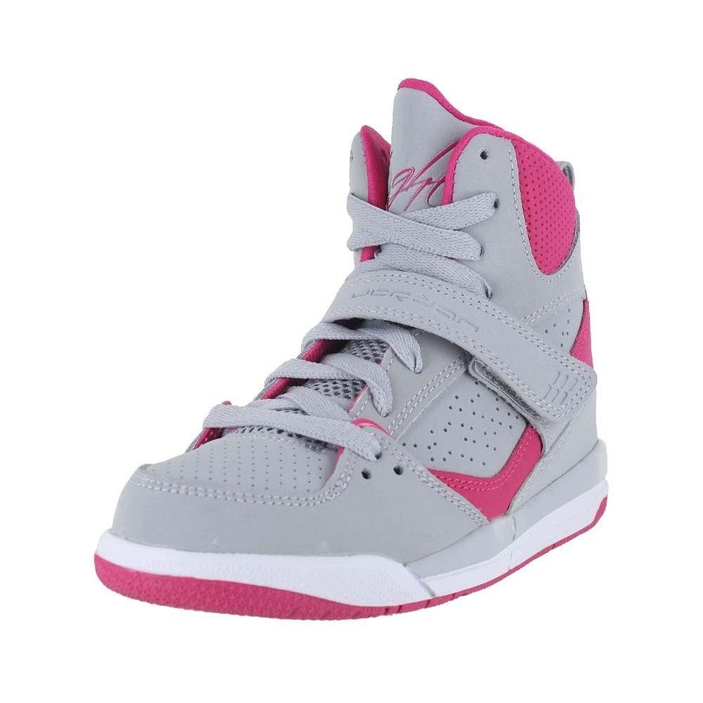 new product 68779 798bb Amazon.com  JORDAN FLIGHT 45 HIGH GP Girls sneakers 524863-008 Wolf  Grey vivid Grey-vivid Pink-white, Olive Khaki dk Cinder 12.5 M US Little  Kid  Shoes