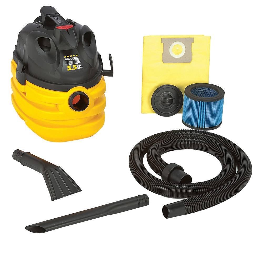 Shop-Vac 5872410 5.5-Peak Horsepower Portable Contractor Right Stuff Wet/Dry Vacuum, 5-Gallon