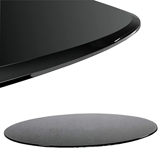Tablero de Cristal Negro (Diámetro 60 cm Cristal para Mesa de ...