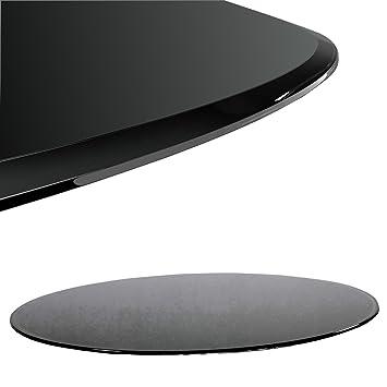 Glastisch schwarz rund  Glasplatte Schwarz Rund Ø 60 cm Glasscheibe für Glastisch ESG ...