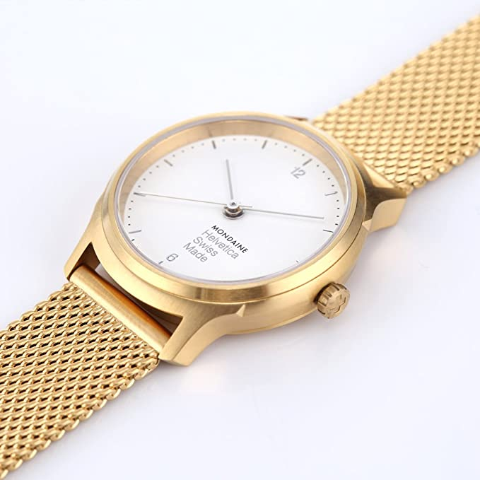 Amazon.com: Mondaine Womens Helvetica Quartz Stainless Steel and Gold Plated Casual Watch(Model: MH1.L1111.SM): Mondaine: Watches
