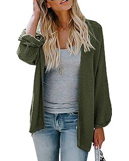 d8505433457 Womens Dolman Sleeve Cardigan Sweaters Oversized Open Front Knit Tops  Duster Jacket