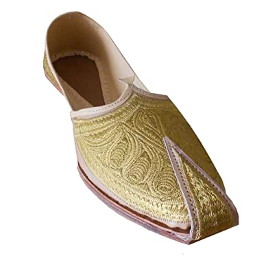 Men's Traditional Indian Faux Leather With Embroidery Ethnic Shoes