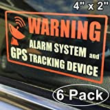 car alarm system gps - **Front Self Adhesive Clear Vinyl** Outdoor/Indoor (6 Pack) 4