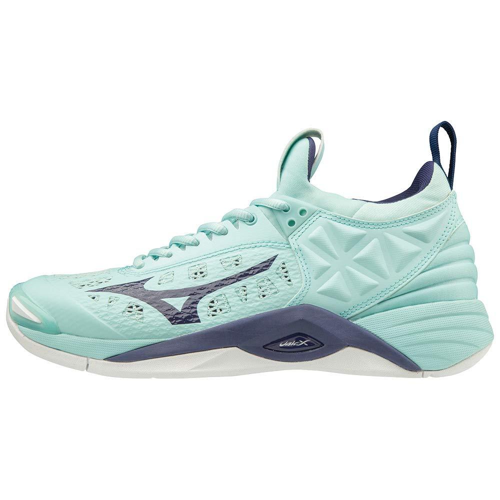 Bleu (bleulumière Astralaura blanc 28) 36.5 EU Mizuno Wave MoHommestum, Chaussures de Volleyball Femme