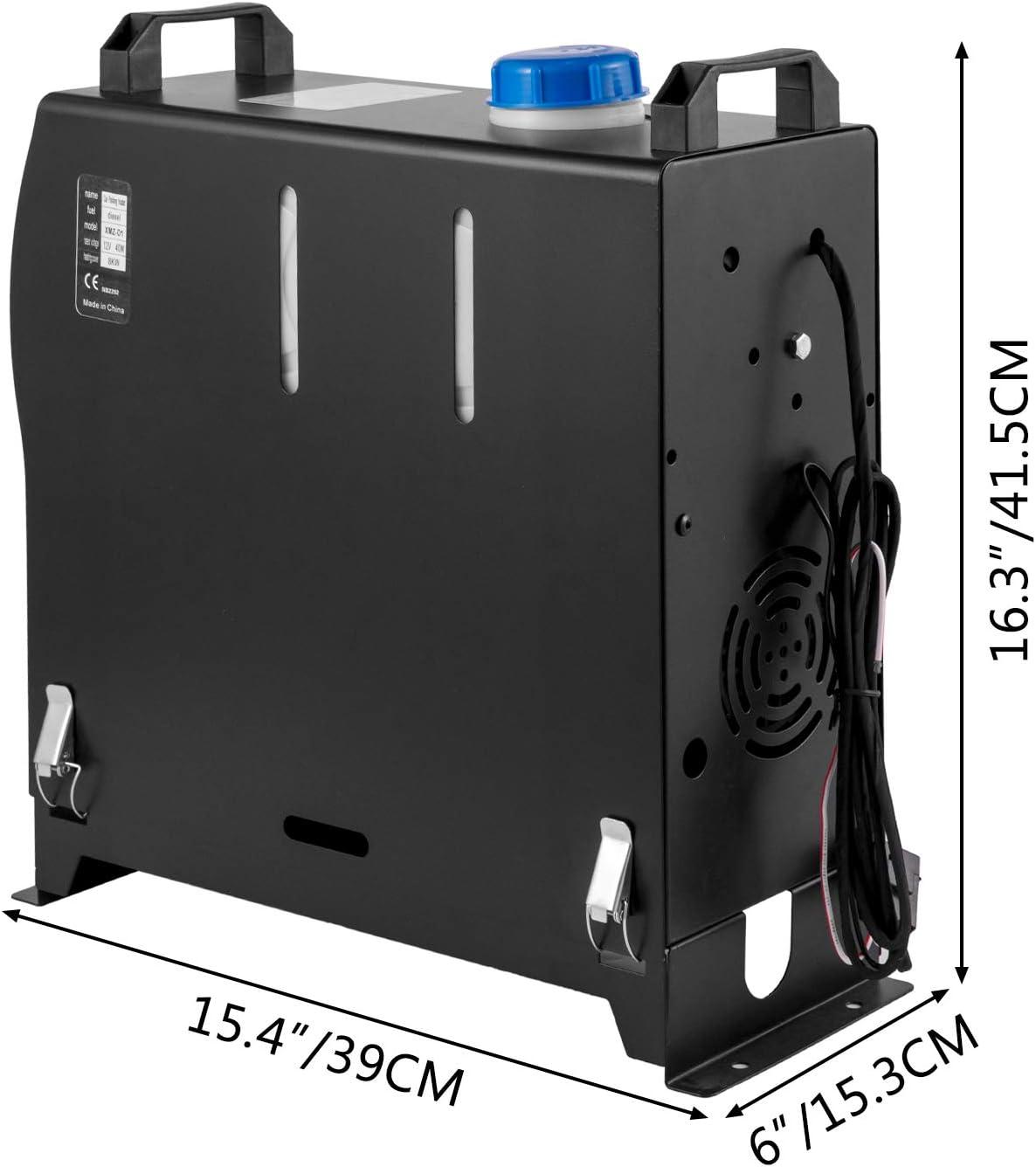 VEVOR Calentador de Aire Diesel 8 kW Calefacci/ón Estacionaria 12 V Diesel Port/átil Calentador de Estacionamiento Diesel Calefacci/ón Est/ática Furgoneta Diesel Calentador Coche Temperatura +80 /°C 40