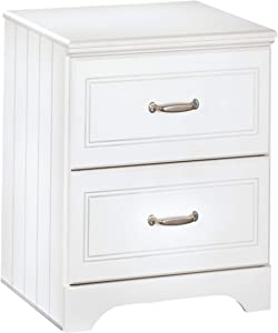 Ashley Furniture Signature Design - Lulu Nightstand - 2 Drawers - Casual Styling with Crisp Finish - White