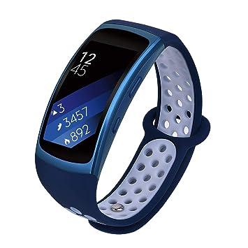 VIGOSS Compatible con Gear Fit 2 Correa/Fit 2 Pro Correa, Correa de Silicona Suave para Reloj Fitness Correa de Repuesto para Samsung Gear Fit 2 Pro ...