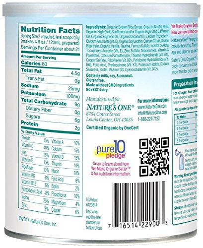 Babys Only Toddler Formula, Dairy, 12.7 Ounce (Pack of 6)
