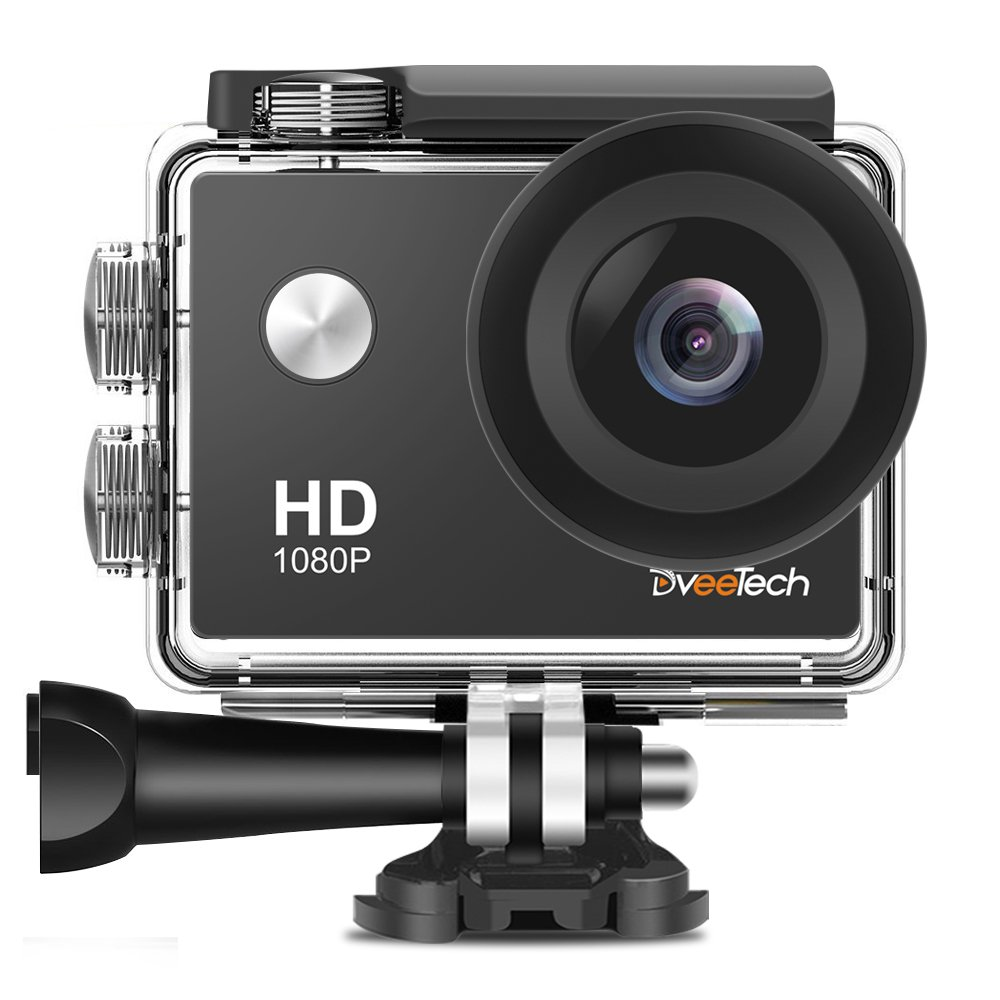 Action Camera HD WiFi 1080P Sports Camera Waterproof 30M Underwater Camera 12Mp Motorcycle Helmet Action Cam Bike Forehead Cycling Snorkeling Climbing with Mounting Kit for Kids DveeTech