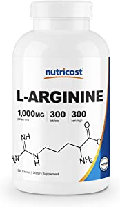 Nutricost L-Arginine 1000mg, Amino Acid Tablets (300 Tablets)
