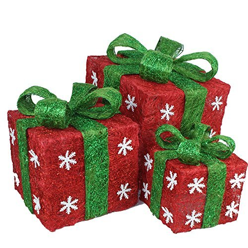 Outdoor Lighted Presents in US - 9