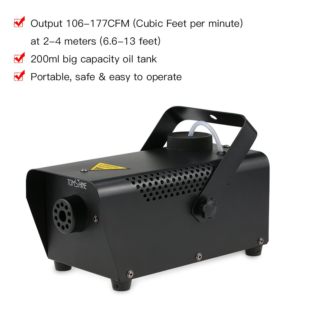 Tomshine 400W Portable Fog Machine for Halloween Party Wedding Stage Effect - Aluminum Casing - Wired Remote Control by Tomshine (Image #4)
