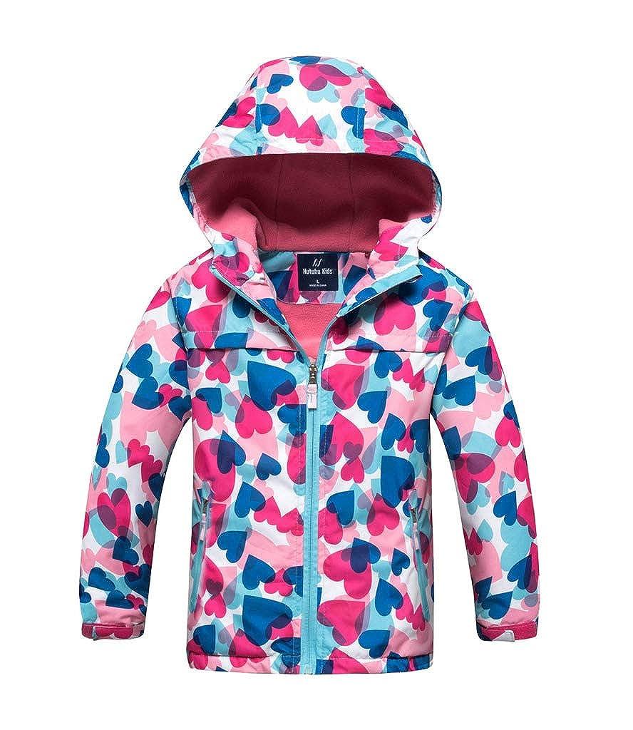 Buy-Box Cute Girl Waterproof Cloth Jacket Printing Winter Windbreaker Jacket