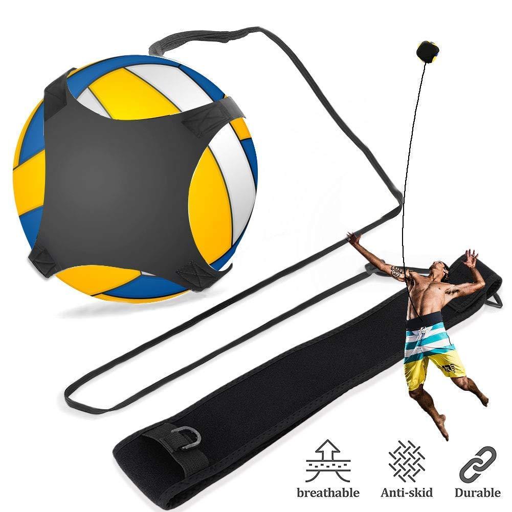 Attrezzatura per l'allenamento di pallavolo con palla rimbalzante con cinturini e cinturini regolabili