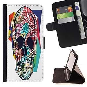 King Case - FOR HTC One M8 - ?on your way down - Prima caja de la PU billetera de cuero con ranuras para tarjetas, efectivo Compartimiento desmontable y correa para la mu?eca