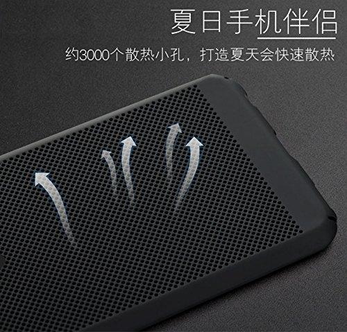 Funda Huawei P10 Plus,Alta Calidad Ultra Slim Anti-Rasguño y Resistente Huellas Dactilares Totalmente Protectora Caso de Plástico Duro Case,Cuadrícula Disipación de calor Antideslizante Cover(YQ2-8) A