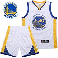 Camiseta de baloncesto para hombres NBA Warriors Curry # 30 Malla bordada Baloncesto Swingman Jersey Chaleco deportivo sin mangas Top Shorts Ropa de entrenamiento Camisa de verano Uniforme para niños