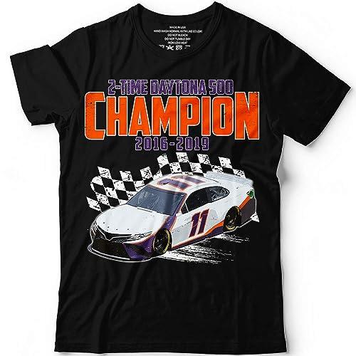 eef10b76 Amazon.com: 2 Time Daytona-500-Champion 2016 2019 Denny 11 Car Racing  Customized Handmade T-Shirt Hoodie/Long Sleeve/Tank Top/Sweatshirt: Handmade