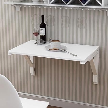Mesa de trabajo plegable montada en la pared Mesa plegable de madera maciza, Mesa de comedor,