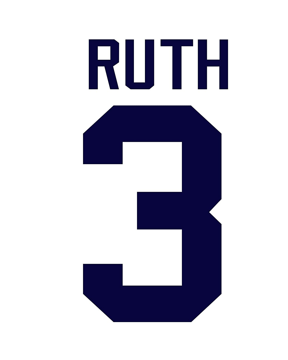 best sneakers 2750e 36228 Babe Ruth New York Yankees Jersey Number Kit, Authentic Home ...