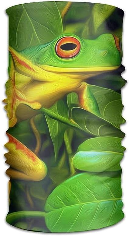 Magic Headwear Green Frog Outdoor Scarf Headbands Bandana Mask Neck Gaiter Head Wrap Mask Sweatband
