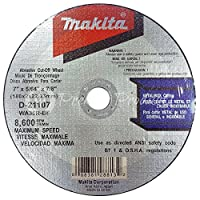 """Makita 10 Pack - 7 Inch Cutting Wheels For Grinders - Aggressive Cutting For Metal & Stainless Steel/INOX - 7"""" x .078 x 7/8-Inch 