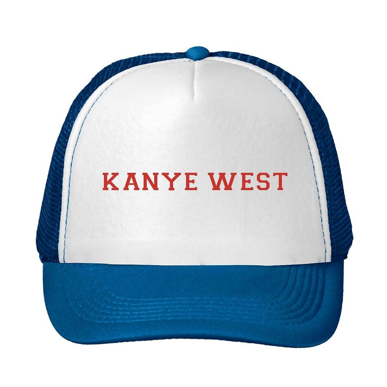 Woman Men Cotton Kanye West Logo Adjustable Mesh Hats