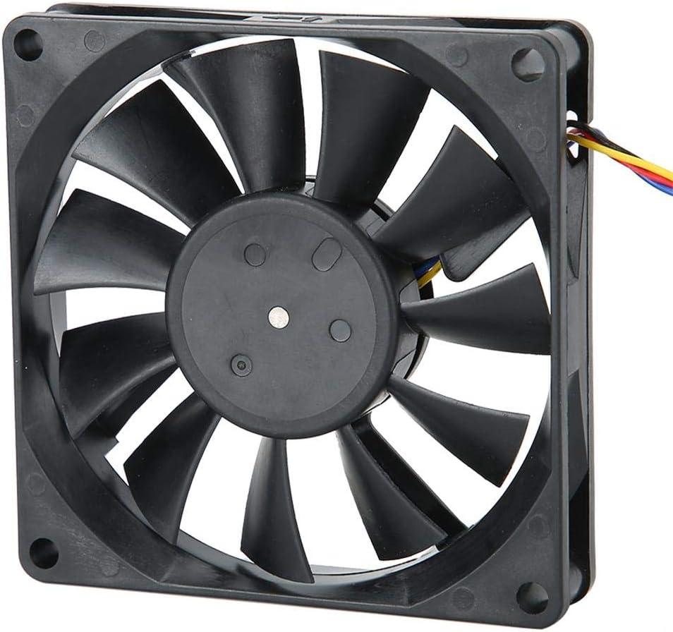 Ventilador de refrigeración de PC, ventilador de disipador de calor de 12V 0.3A 8cm, reducción silenciosa de la vibración, fuerte disipación de calor, compatible con varias fundas de PC, adecuado para
