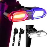 DON PEREGRINO Powerful LED Bike Tail Light 110 Lumens, Rechargeble Rear Bicycle Light with Multiple Modes for Night & Daytime