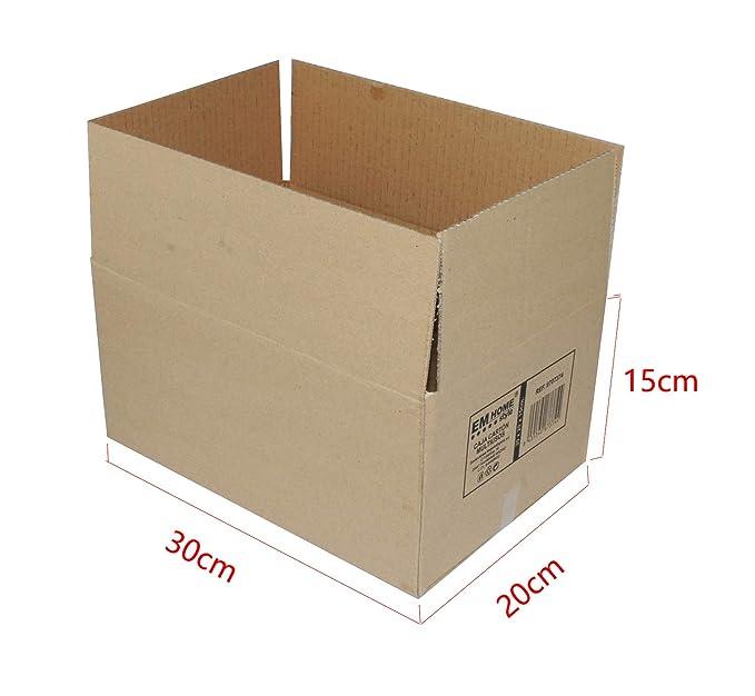 Cajas de Cartón, Cajas de Mudanza y Envíos Postales Pack de 12, Alta Calidad, Resistente-Color Marrón (50x35x30cm): Amazon.es: Oficina y papelería