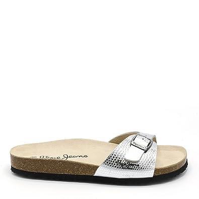 6582dcc2f6a1 Pepe Jeans Sandales Nu Pieds Femmes - PLS90284-934 - 37 Argent ...