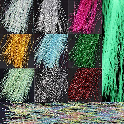 Fishing Lures - 13 Bags Night Glow Fly Tying Material Crystal Flash Holographic Fishing Lure Tying Making 13 Colors 150pcs / Bag