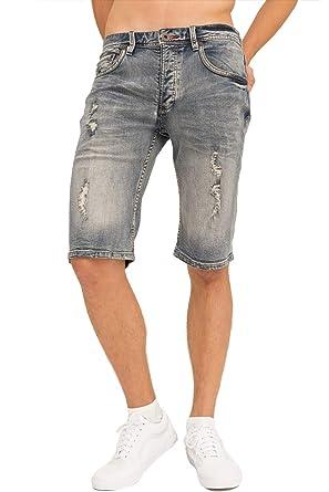 official photos 7a0ee a66e4 trueprodigy Casual Homme Denim Short Elastique, Vetements Swag Marque  Vintage (Retro   Slim fit