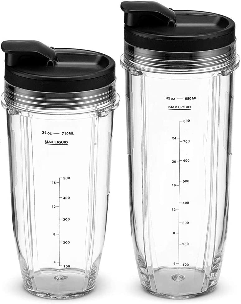 BL680 Auto IQ Series Juicer BL490 Senmubery Juicer Accessories 32OZ Cup and Spout Lid for Ninja BL480 BL640