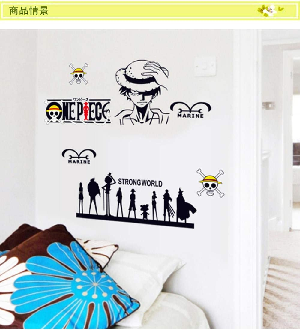 Removable One Piece Lufei Children S Room Bedroom Anime Background Wall Decoration Stickers Home Decoration Wall Stickers Amazon Co Uk Kitchen Home