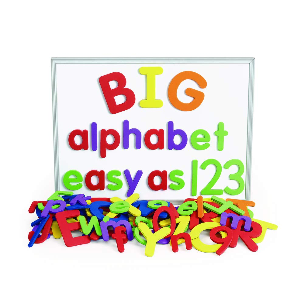 Excellerations Giant Foam Magnetic Alphabet Letters and Numbers, 114 Pieces, Educational, Preschool, Language, Kids Toys by Excellerations